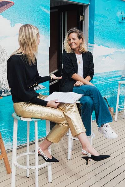 interview marketing fashion conversation between women